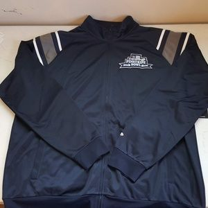 NWT New Era Pinstripe Bowl Mens Zip Up Jacket